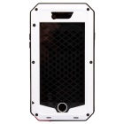 Water-Resistant Dustproof Shockproof Aluminum + Silicone Full Body Case for IPHONE 6 - Black + White