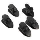 Cable Wire Lapel Clip Organizer + Rotate Mount for Headphone / Earphone - Black (5 PCS)