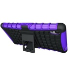 TPU + PC Armor Stand Case for Sony Xperia M4 Aqua - Purple + Black