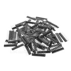 DIY 15-Value 2.54mm red 9-Pin resistencias de bus de caja de caja de surtido (75pcs)