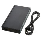 10-Port 100M poder sobre ethernet POE hub / switcher w / LED - preto