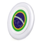Brazil National Flag Pattern S6 QI Wireless Charger for Phones - White