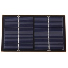 1W Laminated Solar Monocrystalline Silicon Cell Panel Board - Black (115 x 70mm)