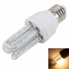 E27 5W 3U -Shaped lâmpada LED Warm White 3500K Luz 400LM 24 SMD 2835 - Branco ( AC 85 ~ 265V )