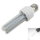 E27 9W 3U-Shaped LED Lamp White Light 6000K 720lm 48-SMD 2835 - White (AC 85~265V)