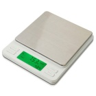 "Prointxp PTPT3-2000 1.96"" LCD Digital Pocket Scale w/ Dual Units Display - White (2000g / 0.1g)"