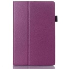 PU Lychee Pattern Two-fold Leather case Cover for Lenovo A7600 A10-70 10.1 Tablet - Purple
