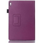 Lychee Pattern PU Smart Case for Lenovo A7600 / A10-70 - Purple