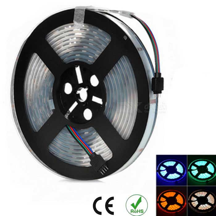 5M SMD 5050 Waterproof 300-LED Strip 20-key Controller (12V / US Plugs)