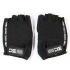 Basecamp BC-204 Breathable Shock-proof Lycra Cycling Bicycle Half Finger Gloves - Black (XL / Pair)