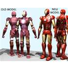DIY Origami 3D Paper Model - Iron Man 2 (4-Paper Set)