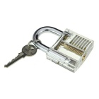 Slotted Practice Padlock + Double Heads Comb Style Lock Pick Set