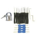 Slotted Practice Padlock + Advanced Lock Picks + Double Heads Comb Style Lock Pick Set