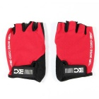 Basecamp BC-204 Breathable Shock-proof Lycra Cycling Bicycle Half Finger Gloves - Red (XL / Pair)