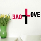 Creative LOVE Wall Decal PVC Wall Sticker - Black + Red