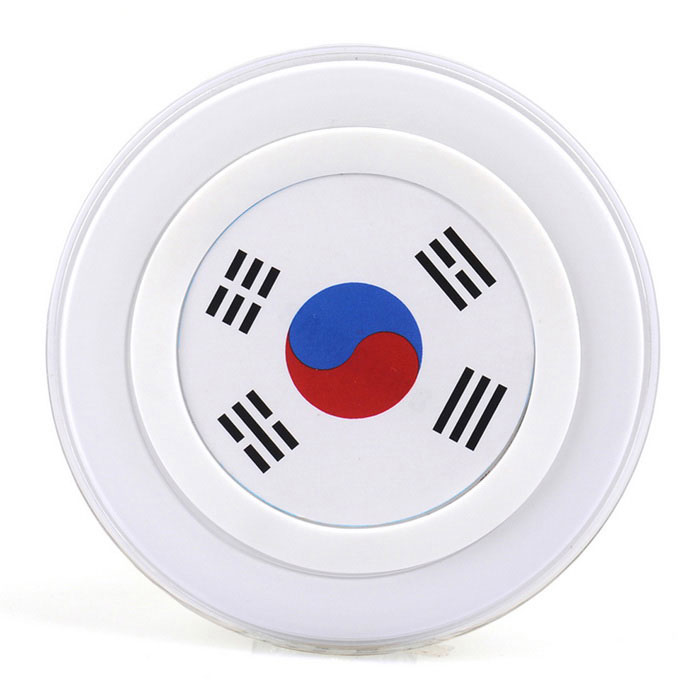 Korea Flag Pattern Qi Wireless Charger for Phones - White