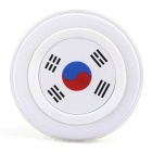 Korea Flag Pattern Qi Standard Wireless Charger for Smartphones - White