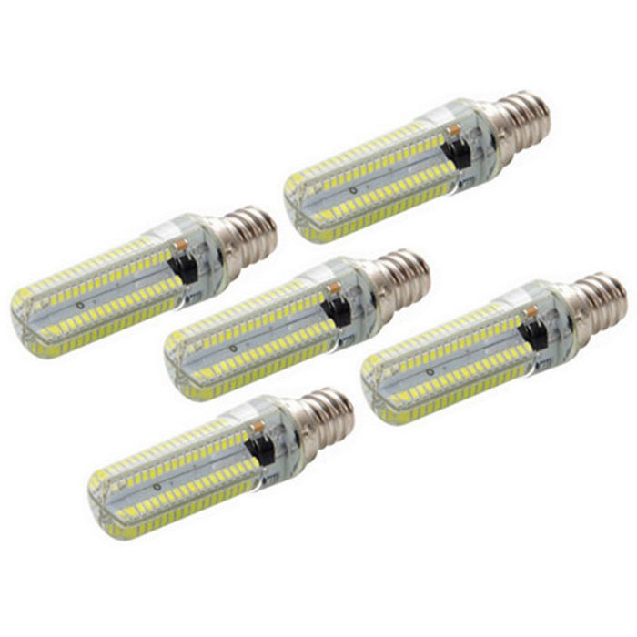 Dimmable E12 7W LED Corn Bulb Cold White Light 840lm 152-SMD (5PCS)
