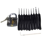 Slotted Practice Padlock + Lock Picks Set