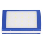 5000mAh Camping LED Light / Solar Power Charger Mobile Power Bank - Blue + White