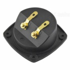 CARKING Speaker Box Binding Post 2-Terminal Board - Black + Golden