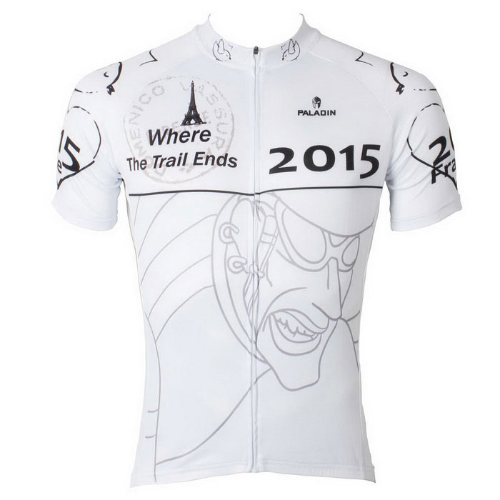 Paladinsport Men's Patterned Short-sleeve Jersey T-Shirt - White (M)