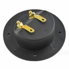 CARKING Round Cup Style 2 Terminals Binding Post Board - Gold + Black
