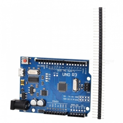 UNO R3 Micro USB Socket ATmega328P Board for Arduino - Blue + Black