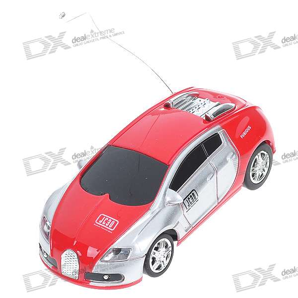 Mini R/C Racing Sport Car Set - Red + Silver + Black (40MHz)