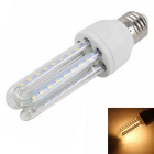 E27 9W 3U-Shaped LED Lamp Warm White Light 3500K 720lm 48-SMD - White