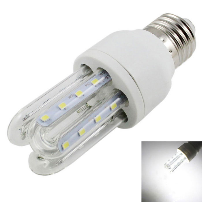 E27 5W 3U-Shaped LED Lamp Cold White Light 400lm 24-SMD 2835 (85~265V)