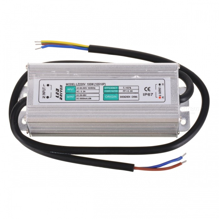 IP67 Waterproof 100W Constant Current LED Power Driver (10S10P)