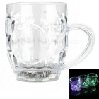 Water Sensing Colorful LED Light Acrylic Beer Cup - Transparent (2 x CR2025 / 300ml)