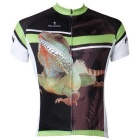 Paladinsport Men's Chameleon Patterned Outdoor Cycling Short-sleeved Jersey - White + Black (XXL)