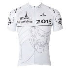 Paladinsport Men's Patterned Outdoor Cycling Short-sleeved Jersey T-Shirt Top - White + Black (XXL)