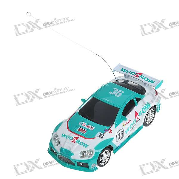 Mini R/C Racing Sport Car Set - Green + White + Black (27MHz)