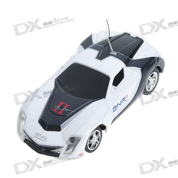 Mini R/C Racing Sport Car Set - White + Black (35MHz)