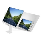 Book Style Folding 3D Screen Magnifier w/ Stand for Smartphone - White