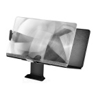 Book Style Folding 3D Screen Magnifier w/ Stand for Smartphone - Black