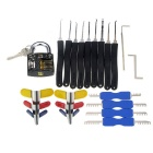 Practice Padlock + 9PCS Lock Picks + Padlock Shims Set