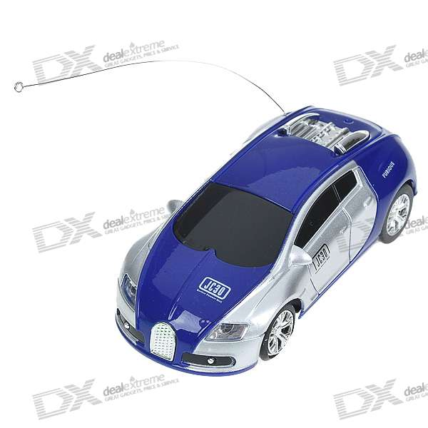 Mini R/C Racing Sport Car Set - Blue + Silver + Black (40MHz)