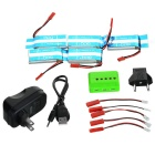 750mAh Battery + 1-to-5 Charger + More Set - Sky Blue + Multicolored