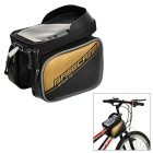 "Basecamp BC-301 Water-Resistant Bike Top Tube Saddle Bag w/ Glare Shield & 5.5"" Phone Case - Golden"