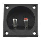 CARKING Square Black Shell Speaker Box 2 Binding Post Terminal Board Terminal Connector