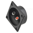 CARKING Square Speaker Box 2 Binding Post Terminal Board - Black