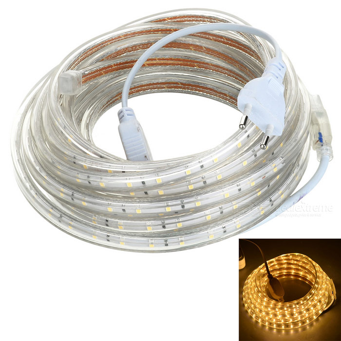 36W LED Light Strip Warm White 300-SMD - White + Beige (EU Plug / 5m)Other SMD Strips<br>Form ColorWhite + Beige + Multi-ColoredColor BINWarm WhiteMaterialPlastic + rubber + LEDQuantity1 DX.PCM.Model.AttributeModel.UnitPower36WRated VoltageAC 220 DX.PCM.Model.AttributeModel.UnitEmitter TypeOthers,2835 SMDTotal Emitters300Color Temperature3000~3300KWavelengthNoTheoretical Lumens3600 DX.PCM.Model.AttributeModel.UnitActual Lumens3000 DX.PCM.Model.AttributeModel.UnitPower AdapterEU PlugPacking List1 x LED light strip (5m)<br>