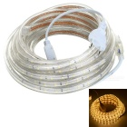 36W LED Light Strip Warm White 3300K 3000lm 300-SMD 2835 - White + Beige (EU Plug / AC 220V / 5M)