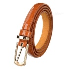 Women's Fashionable PU Belt w/ Buckle - Brown