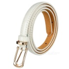 Women's Fashionable PU Belt w/ Buckle - White