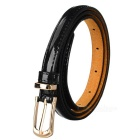 Women's Fashionable PU Belt w/ Buckle - Black